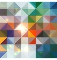 Bright abstract shining triangles background vector image vector image