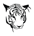 White Tiger Stencil vector image