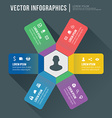 abstract infographic flat design Workflow layout vector image