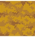 Urban camo pattern - yellow pixels vector image