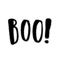 boo hand drawn lettering vector image