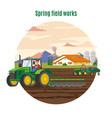 colorful agriculture and farming concept vector image