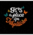 It is a place for inspiration scribble handwritten vector image