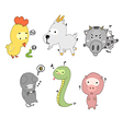 many animal vector image