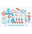 Modern Flat thin Line design Human resource vector image