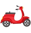 Red motor scooter vector image