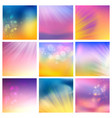 set of abstract blotted tiles vector image