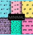 set of minimal seamless patterns vector image