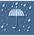 Simple icon with umbrella and rain drops on a vector image