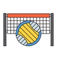 Sport team volleyball badge vector image