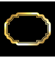 Gold frame simple golden black vector image