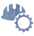 development hardhat fabric textured icon vector image