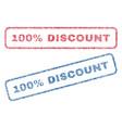 100 percent discount textile stamps vector image