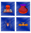 assembly flat shading style icon halloween danger vector image