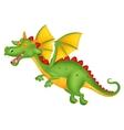 Cute dragon cartoon flying vector image