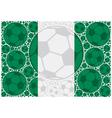 Nigeria soccer balls vector image vector image