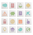 square media icons vector image vector image