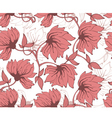 flower pattern back red vector image vector image