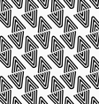 Black and white diamonds split diagonally vector image