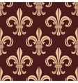 Seamless brown and beige lilies pattern vector image