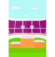 Background of stadium with podium for winners vector image vector image