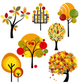Abstract autumn trees vector image
