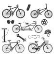 bicycle vintage elements set vector image