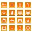 car maintenance and repair icons set orange vector image