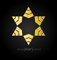 luxury golden star with on black background vector image