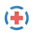 Medical logo design template vector image