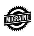 migraine rubber stamp vector image