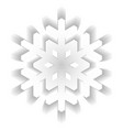 paper snowflake with long shadow design isolated vector image