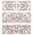 set vintage ornate border frame filigree vector image