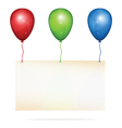 Greeting card on balloons vector image vector image
