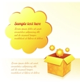 Yellow sunflowers box with text bubble vector image vector image