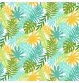 Colorful hawaiian plants seamless pattern vector image