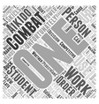 Aikido Combat Word Cloud Concept vector image