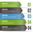 Green Arrows Infographics vector image