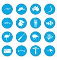 australia icon blue vector image