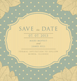 The Vintage Save The Date vector image vector image