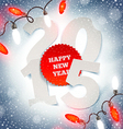 New years greeting on a snow vector image