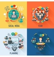 Meeting icon flat vector image vector image