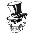 skull in hat vector image