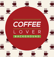 Coffee Lover Background vector image
