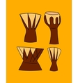 hand drawn djembe vector image