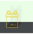 Gift box near wall vector image