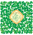 patrick day background 2 380 vector image vector image