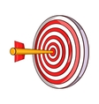 Red target and dart icon cartoon style vector image