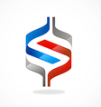 abstract S shape ribbon logo vector image