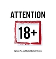 Attention 18 Red Rectangle Eighteen Stop Sign vector image